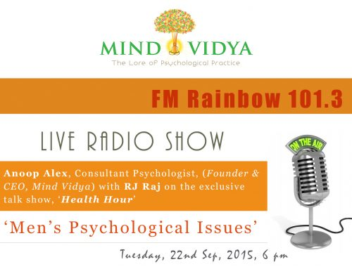 Radio Talk show on 'Men's Psychological Issues'